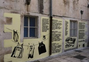 Picture 4. The mural in honour of KK Jugoplastika, which was removed (painted over) by the community wardens